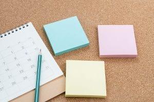 Sticky Notes and a Calendar